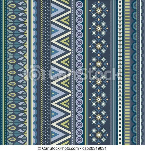 Abstract geometric vector strip pattern - csp20319031