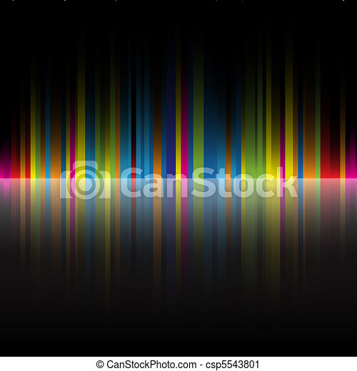 abstract rainbow colors black background - csp5543801