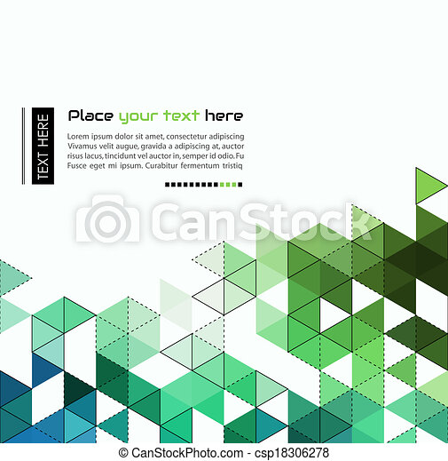 Abstract technology background with color triangle shapes - csp18306278