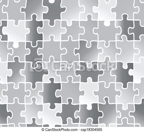 abstract texture puzzle. silver gray color. - csp18304565