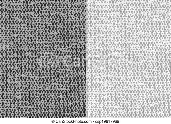 Abstract textured canvas linen fabric background. Vector. - csp19617969