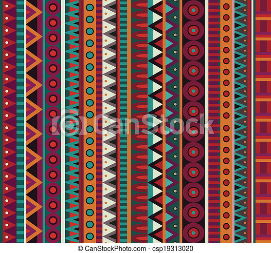 Abstract vector ethnic seamless pattern - csp19313020