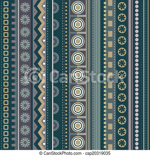 Abstract vector strip pattern - csp20319035