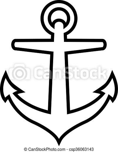 Anchor vector icon - csp36063143