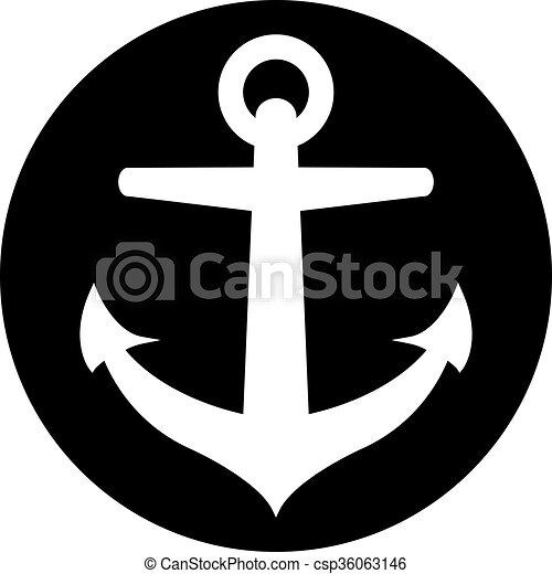 Anchor vector icon - csp36063146