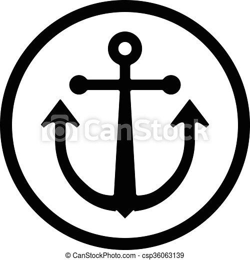 Anchor vector icon - csp36063139