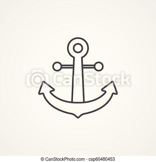 anchor vector icon sign symbol - csp60480453