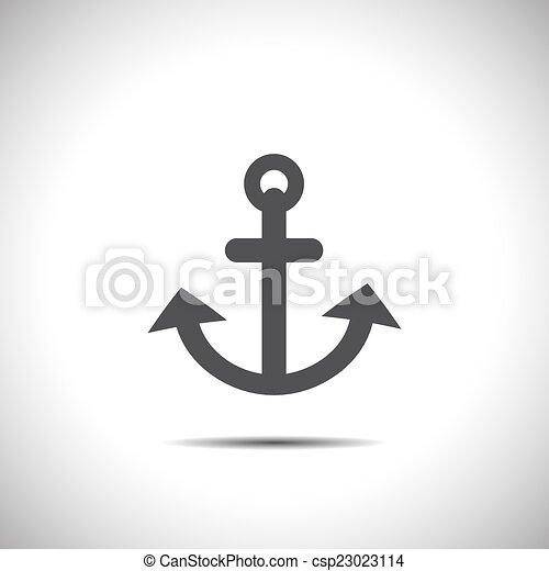 anchor vector icon - csp23023114