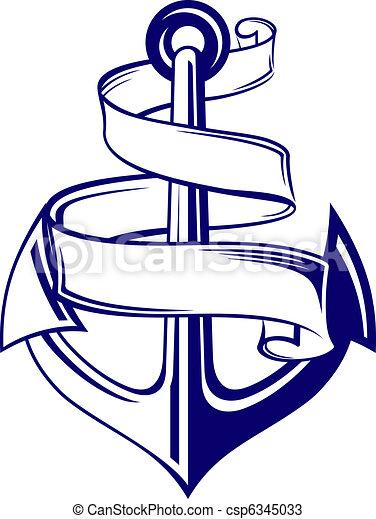 Anchor with ribbon - csp6345033