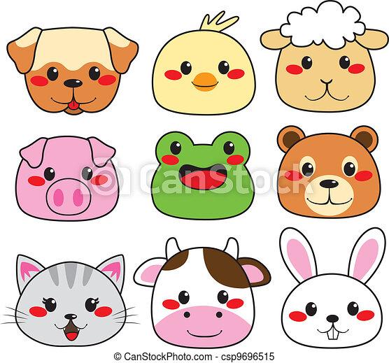 Animal Face Collection - csp9696515