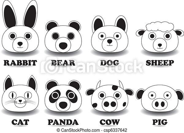 animal face - csp6337642