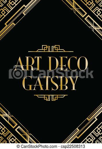 art deco gatsby style background - csp22508313
