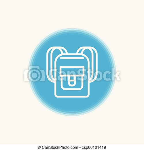 Backpack vector icon - csp60101419