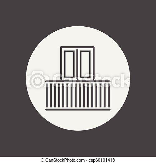 Balcony vector icon - csp60101418