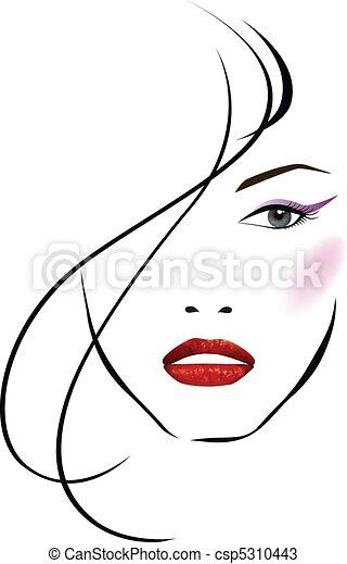 Beautiful woman face - csp5310443