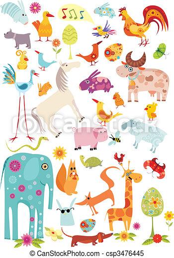 big animal set - csp3476445
