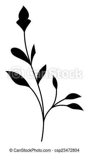 Black Swirl Flourish Element - csp23472804