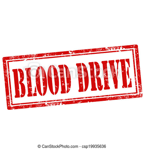 Blood Drive-stamp - csp19935636