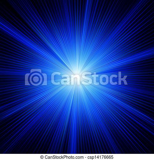 Blue color design with a burst. EPS 8 - csp14176665