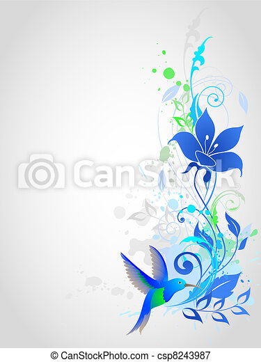 Blue vector background - csp8243987