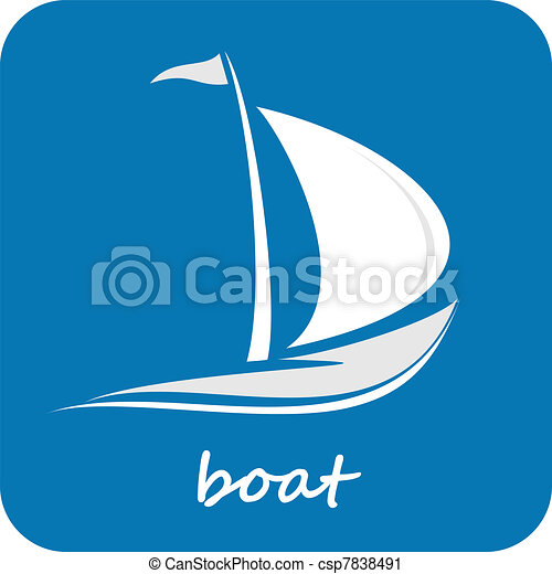 Boat, Yacht - isolated vector icon - csp7838491