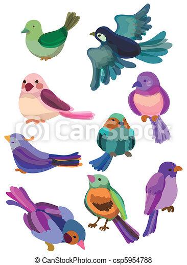 cartoon bird icon - csp5954788