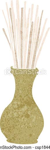 cartoon reeds in vase - csp18440782