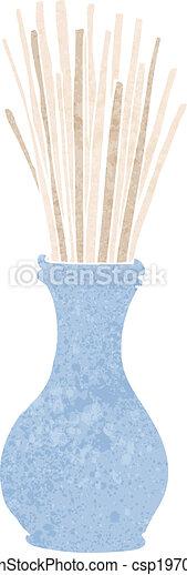 cartoon reeds in vase - csp19707616