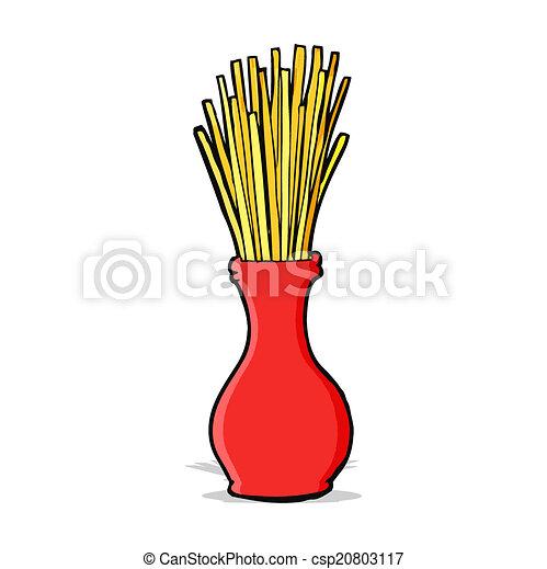 cartoon reeds in vase - csp20803117