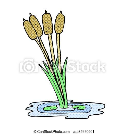 cartoon reeds - csp34650901