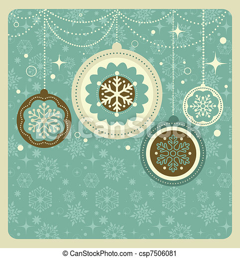 Christmas background with retro pattern - csp7506081