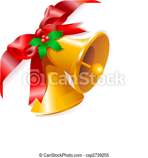 Christmas bells corner - csp2739255