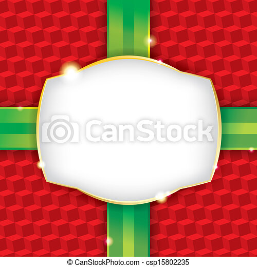 Christmas Present Wrapping Paper Background - csp15802235