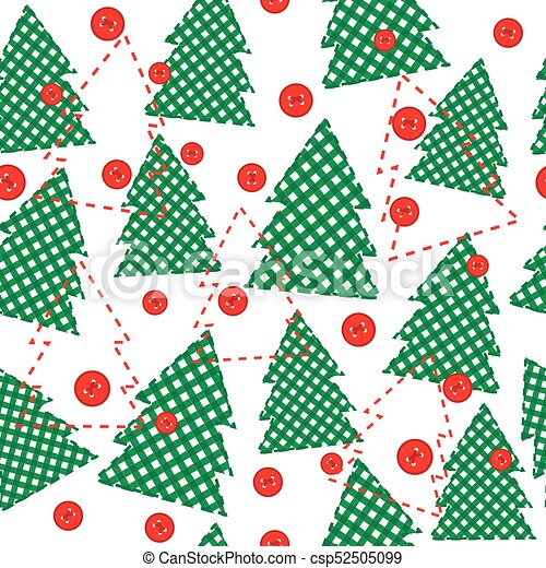Christmas template wrapping paper in patchwork style - csp52505099