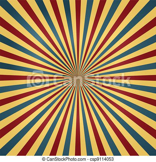 Circus Colors Sunburst Background - csp9114053