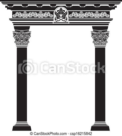 Classic arch with filigree column - csp16215842