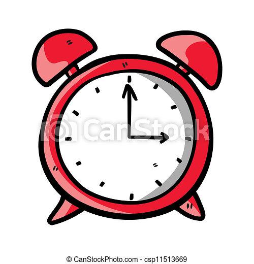 Clock doodle - csp11513669