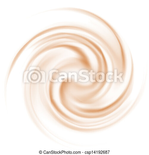 Coffee and milk curl texture - csp14192687