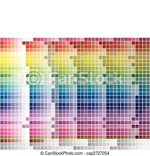 Color Palette Tiled Background - csp2727054