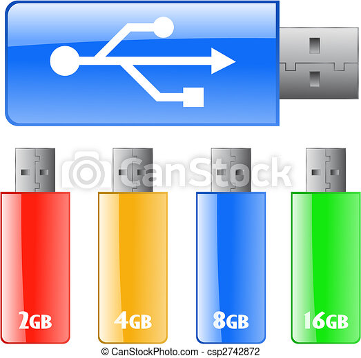 Colored USB flash drive - csp2742872