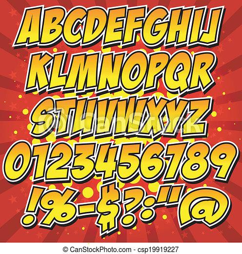 comics style alphabet collection se - csp19919227