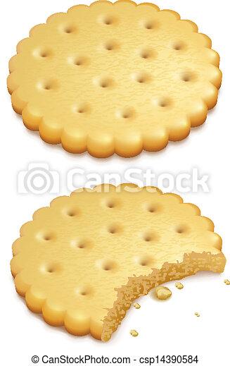 crispy cookies isolated on white - csp14390584