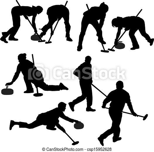 Curling Game Silhouette - csp15952628