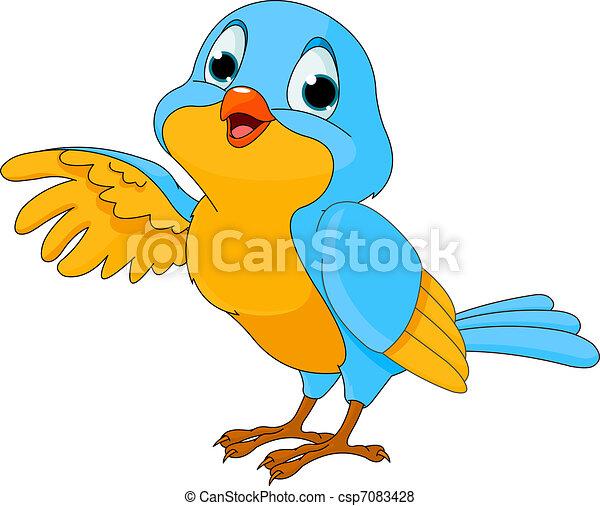 Cute Cartoon Bird - csp7083428