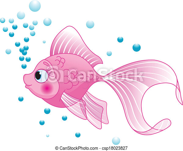 Cute Fish - csp18023827