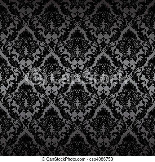 Damask seamless wallpaper - csp4086753