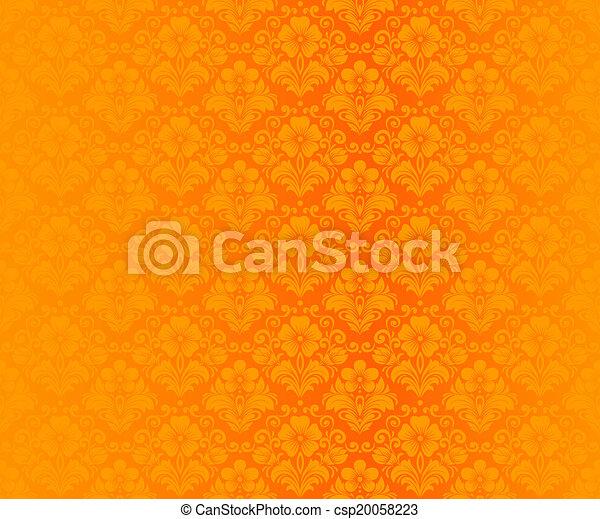 Damask vintage seamless pattern - csp20058223