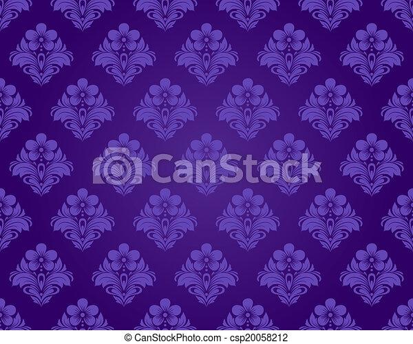 Damask vintage seamless pattern - csp20058212