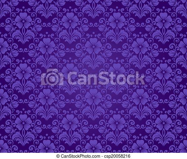 Damask vintage seamless pattern - csp20058216