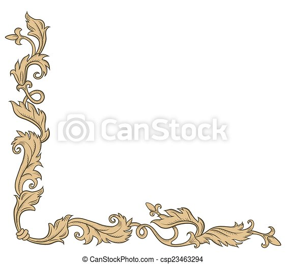 Decorative corner ornament - csp23463294